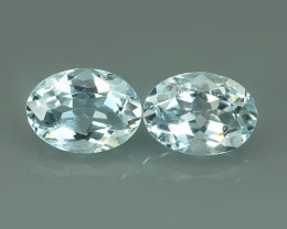 2.55 Cts Nice Quality Natural Light-Blue Colour Aquamarine  Untreated Oval