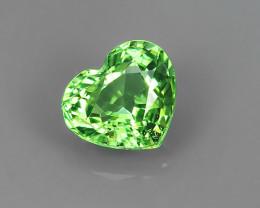 ~Natural Shocking Green Heart Shape Tsavorite Garnet Kenya, Amazing~