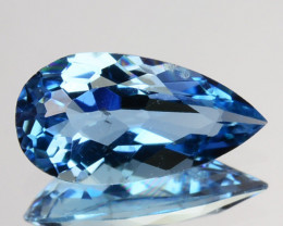 Exceptional Natural Santa Maria Aquamarine Pear 0.62Ct