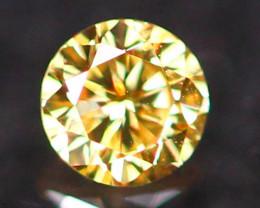 2.50mm Untreated VS Round Brilliant Cut Fancy Vivid Color Diamond E2801