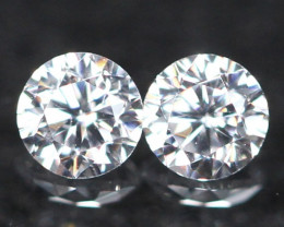 2.20mm D/E/F VVS Natural Round Brilliant Cut Diamond Pair
