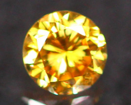 3.01mm Untreated VS Round Brilliant Cut Fancy Vivid Color Diamond E2804
