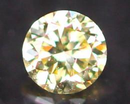 2.60mm Untreated Round Brilliant Cut Fancy Vivid Color Diamond E2807