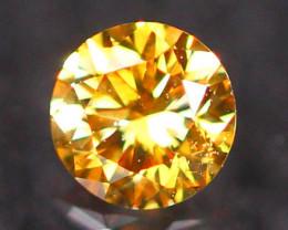 2.90mm Untreated Round Brilliant Cut Fancy Vivid Color Diamond E2810