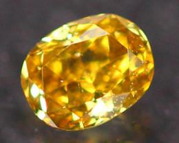 0.15ct Untreated Fancy Deep Golden Yellow Color Diamond E2811