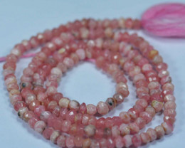 Baby Pink Natural Pink Opal Rondelle Faceted Beads 28.99Ct