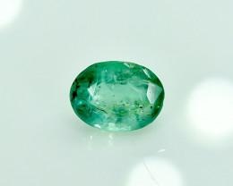 0.91 Crt Natural Emerald Faceted Gemstone.( AG 22)