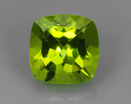 2.00 Cts High Best Natural Apple Green Cushion Pakistan Peridot~
