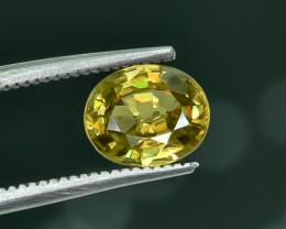 1.37 Crt Natural Chrome Sphene Faceted Gemstone.( AG 22)