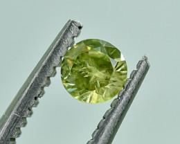 0.22 Crt Natural Demantoid Garnet Faceted Gemstone.( AG 22)