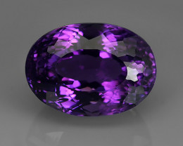 18.80 Cts Natural Purple Amethyst Exquisit Oval Cut Glister NR!!!