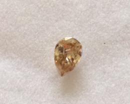 Pear Cut Fancy Brown Diamond 0.24ct.