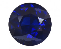 3.39 ct Round Blue Sapphire  (Royal Blue) GRS Certified