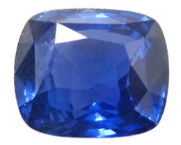 4.11 ct Cushion Cut Blue Sapphire  (Deep Rich Blue)