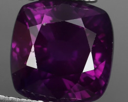 Certified~3.35 CTS EXCELLENT CUSHION  PURPLE SAPPHIRE NATURAL BEAUTIFUL GEM