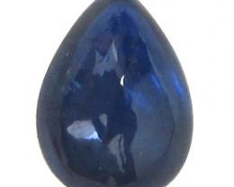 1.70 ct Pear Shape Blue Cabochon Sapphire (Deep Darkish Blue)