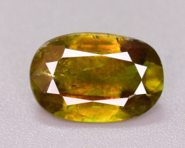 Top Color 2.15 Ct Natural Green Sphene From Himalayan Range. ARA