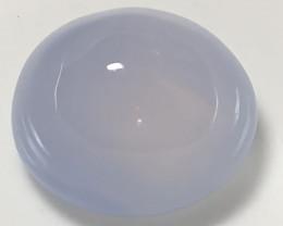 ⭐17.00ct Blue Mauve Chalcedony gem Cabochon - No reserve ~