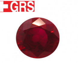 1.03 ct Oval Ruby  (Pigeon Blood Red) - GRS Certified!
