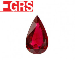 1.15 ct Pear Shape Ruby  (Fiery Red) - GRS Certified