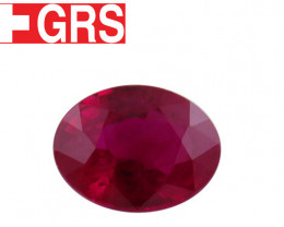 1.37 ct Oval Ruby  Red - GRS Certified