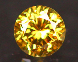 2.94mm Untreated Round Brilliant Cut Fancy Vivid Color Diamond B2901