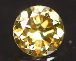 2.77mm Untreated Round Brilliant Cut Fancy Vivid Color Diamond B2905