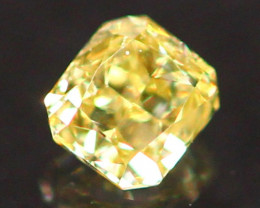 0.10Ct Untreated Fancy Intense Green Olive Color Diamond B2908
