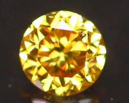2.70mm Untreated Round Brilliant Cut Fancy Vivid Color Diamond B2909