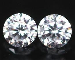 1.90mm D/E/F VVS Natural Round Brilliant Cut White Diamond Pair