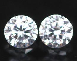 1.80mm D/E/F VVS Natural Round Brilliant Cut White Diamond Pair