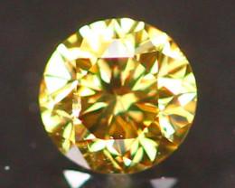 2.67mm Untreated Round Brilliant Cut Fancy Vivid Color Diamond E2910
