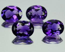 Glamorous Natural Purple Amethyst Oval 6.62Ct