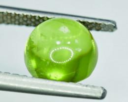 NR Auction - 4.40 Carats Natural Olivine Green Natural Peridot Cabochon