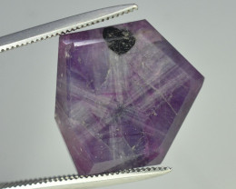 Rarest 14.40 ct Trapiche Pink Kashmir Sapphire T
