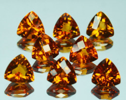 Beautiful Orange Natural Citrine Trillion Parcel 9.30Ct