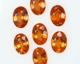 Mandarin Orange Natural Spessartite Garnet Oval Parcel 6.39Ct
