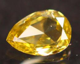 3.90mm Untreated Fancy Intense Yellowish Brown Color Diamond B3001