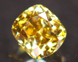 2.64mm Untreated Fancy Deep Greenish Orange Yellow Color Diamond B3004