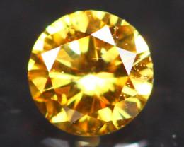 2.63mm Untreated Round Brilliant Cut Fancy Vivid Color Diamond A3103