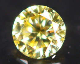 2.60mm Untreated Round Brilliant Cut Fancy Vivid Color Diamond A3111