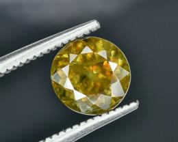 1.65 Crt Chrome Sphene Faceted Gemstone.( AG 23)