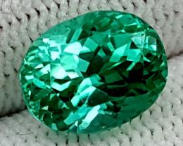 3.85CT GREEN SPODUMENE  BEST QUALITY GEMSTONE IGC74