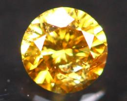 2.55mm Untreated Round Brilliant Cut Fancy Vivid Color Diamond E3104