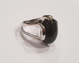 Black onyx 925 Sterling silver ring #191