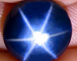4.40 Ct Southeast Asian Round Blue Star Sapphire - Gorgeous