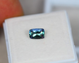 0.92Ct Greenish Violet Blue Tanzanite Octagon Cut Lot LZ2110