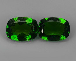 2.30 Cts Eye Catching Natural Rich Green Chrome Diopside Cushion