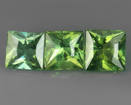 5.85 CTS INVESTMENT GEM~VIP APATITE~SQARE PRINCESS~CUT GREEN EXCLUSIVE !!