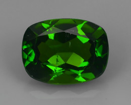 1.35  Cts MARVELOUS RARE NATURAL TOP GREEN- CHROME DIOPSIDE DAZZLING  NR!!